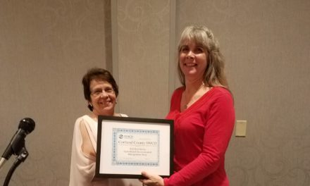 Cortland SWCD presented with NYACD Best AEM Media Award